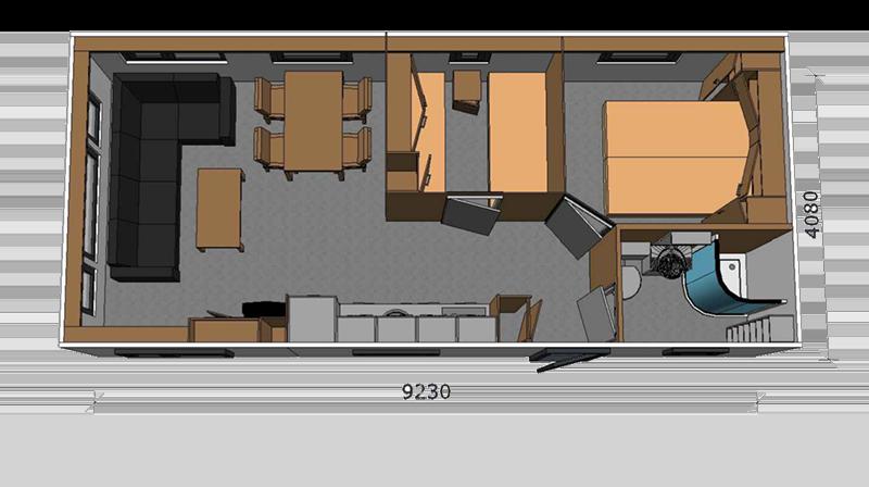 Chalet type Milano 1045 A2.4, Grundriss basis-einteilung